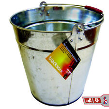 9L Galvanized Steel Bucket Home Kitchen Bath Laundry Galvanised