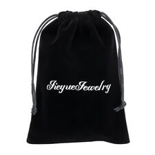 50Pcs Velvet Cloth Jewelry Pouch Drawstring Bags Christmas Candy Bag  Jth
