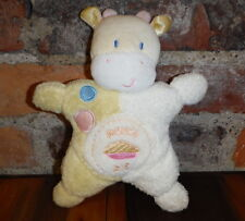 Kids Preferred Plush Rattle Lovey Sweetie Pie Yellow Hippo Security Crib Toy