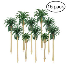 Coconut Palm Trees Statue Figurine Miniature Scale Green Ornament Kids Toys 6A