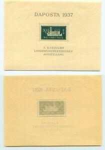 Danzig 1937 SC 221 MNH Souvenir Sheet. g1060