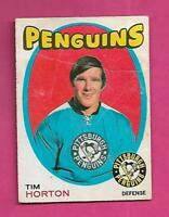 1971-72 OPC # 186 PENGUINS TIM HORTON CREASED CARD (INV# C7705)
