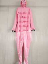 100%Latex Rubber Pink Inflated Bodysuit Party Pig Suit Size XXS-XXL