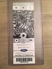 2007 Dallas Cowboys vs New York Jets Official NFL Ticket Stub 11/22/2007