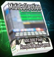 400,000 Midi Collection Almost All Genres LOGIC ABLETON FL STUDIO CUBASE REASON