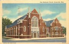 Greenville Mississippi~New First Methodist Church~Sauer-Blackmon Postcard 1950