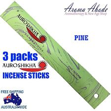 3 x PINE AUROSHIKHA incense sticks 10gms by Sri Aurobindo Ashram