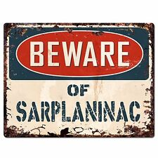 Ppdg0028 Beware of Sarplaninac Plate Rustic Chic Sign Decor Gift