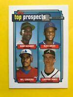 1992 CHIPPER Jones topps ROOKIE prospects CARD #551 Baseball Atlanta Braves mlb
