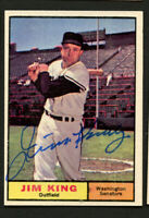 Jim King #351 signed autograph auto 1961 Topps Baseball Trading Card