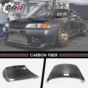 Carbon Fiber Front OE Hood Bonnet body Kits For Nissan Skyline R32 GTR