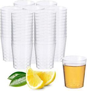 50 Disposable Clear Plastic Shot Jelly Glasses Reusable Party 1oz 30ml 3cl