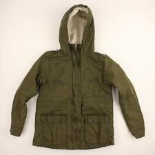 Abercrombie & Fitch Women Dark Green Hooded Zip-Up Jacket Size XS