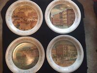 "4 Decorative Pamela Gladding Certified International Hotels 10"" Plates"