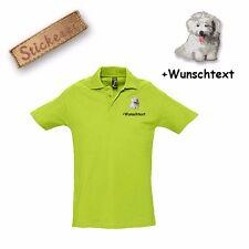 Camiseta Polo Algodón Bordado Coton de Tuléar + Texto personalizado