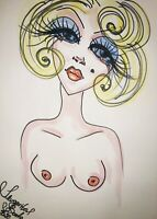 Margarita Bonke Malerei PAINTING Zeichnung Erotik erotica Marilyn Monroe Art Akt