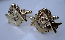 ZP232 Masonic Masons cufflinks Freemason Square Compass Vintage Style All Seeing