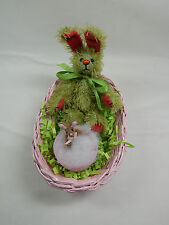 "World Of Miniature Bears Dollhouse Miniature 5"" Easter Bunny Rabbit #5070EF"