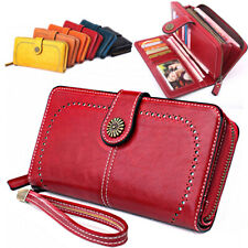 Women Lady RFID Blocking Synthetic Leather Long Wallet Card Holder Clutch Purse