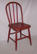 Stenciled Bentwood Child's Chair Red – made in Appleton, Wisconsin