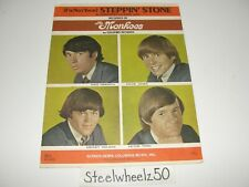 Vintage The Monkees (I'm Not Your) Steppin' Stone Sheet Music 1966 Screen Gems