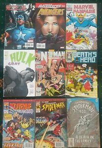 Comic Bundle X30 Marvel DC AD2000 Star Trek Spiderman + Civil War Graphic Novel