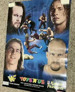 RARE WWF Original 1997 TOYS R US Poster/Austin,Undertaker,Excellent, new, Rolled