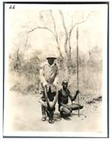 Tchad, Antilope tuée à la fin de la poursuite du lion  Vintage silver print. Sér