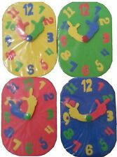 🕒 ASDA Creative Play Eductional Learning Clock Learn To Tell Time Kids Bath Toy