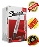 Sharpie Permanent Marker Box of 12 Broad Chisel Tip Point Markers 38201 Black