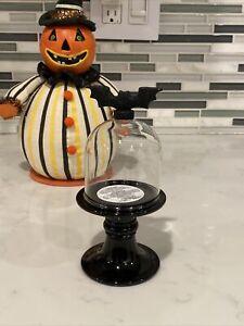 Bath & Body Works HALLOWEEN Mini Dome Black BAT Candle Holder RARE NEW