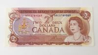 1974 Canada 2 Two Dollars ARE Prefix Canadian Uncirculated Banknote G197