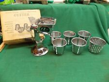 Vtg Deluxe food & vegetable cutter processor E Z cut cutter 6 cones suction base