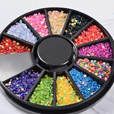 Nail Art Rhinestones Stud Acrylic Tips Stickers Decoration in Wheel Manicure TG