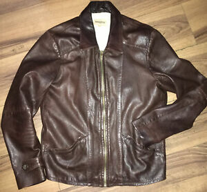 LEVIS LVC MADE AND CRAFTED SKYFALL LEATHER JACKET, SIZE 2/medium,Made In Italy