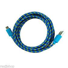 storng Trenzado Cable Micro-USB Cable de datos para Samsung LG sony htc nokia