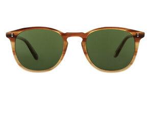 New Garrett Leight KINNEY SUN Blonde Tortoise Pure Green Sunglasses 49mm