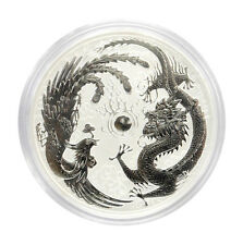 1 oz 999 Silver Coin Dragon & Phoenix 1$ Perth Mint Edition 50.000