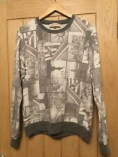 Men's RIVER ISLAND grey & white New York City sweatshirt top size M