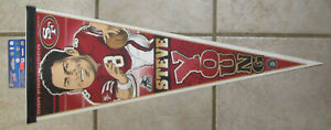RARE NEW STEVE YOUNG CARICATURE FULL SIZE PENNANT VERSION 3 SAN FRANCISCO 49ers