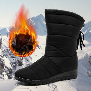 Women Boots Winter Boots Snow Boots Shoes Mid Calf Warm Winter Shoes Plus Size