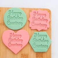 Personnalise Custom Made Name Cookie Stamp Fondant Embosser Birthday Party