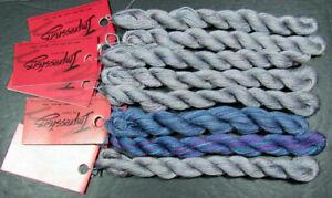 8xNeedlepoint/Embroidery THREAD CARON Overdyed Impressions silk/wool-mixed-NJ1