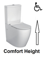 Comfort Raised Height Close Coupled Toilet WC WATER SAVING Soft Closing Seat