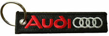 Audi embroidered key chain, german automaker, luxury car key chain