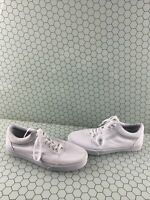 VANS Old Skool All White Canvas Lace Up Low Top Shoes Men's Size 9  Women's 10.5