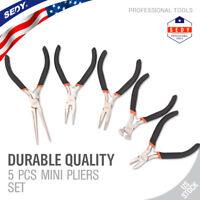 "5pc Jewelers Pliers Set Jewelry Making Beading Craft 6"" Mini Plier Kit US"