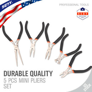 8 Piece Jewelers Pliers Kit Molded Ridges Handles Wire Working Beading Tools