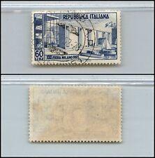 REPUBBLICA - U - 60 L XXX FIERA TRIESTE (685) - 1952