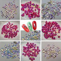 Glitter Crystals Flat Back Rhinestones Diamond Gems Nail Art Crafts Decor DIY